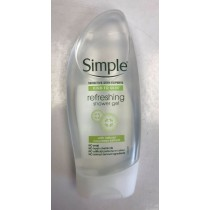 Simple Refreshing Shower Gel with Natural Cucumber Extract - 250ml