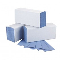 Sirius Z-Fold Hand Towels - Blue - 1 Ply - Box of 3000