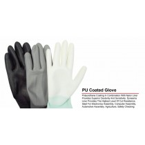 Quality Non Slip Work General Purpose Latex Coated Gloves - Small