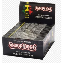 Snoop Dogg Cigarette Rolling Papers - King Size Slim - 33 Leaves Per Book - Pack Of 50 Booklets