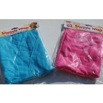 FLEECY DOG BLANKET WITH SLEEVES - 2 COLOURS PINK AND BLUE - COLOURS VARY -  AS SEEN ON TV