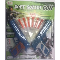 Soft Bullet Toy Gun Shooting Game Set - 38 X 31.5cm - For Ages 3+