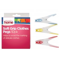 Soft Grip Gel Pegs - Assorted Colours - Pack of 10