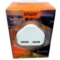 Speedy 2.1 Amp Fast Dual Twin 2 Port Usb Home Charger - Model SP-TC63A