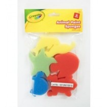 Crayola Animal Paint Sponges - Assorted Shapes - For Ages 3+ - Pack of 6