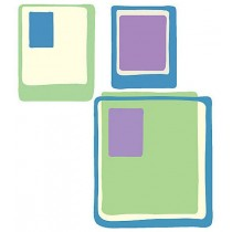 WALLIES COOL SQUARE WALLPAPER CUTOUTS - PACK OF 25