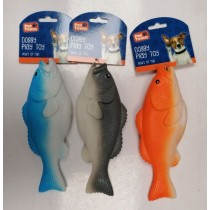 Pet Touch Squeaky Fish Doggy Play Toy - 23cm x 9cm - Assorted Colours