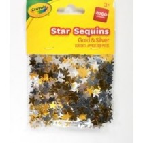 Crayola Star Sequins - 1cm - Gold & Silver - For Ages 3+ - Pack of 2000
