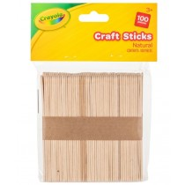 Crayola Natural Craft Sticks - 11cm - For Ages 3+ - Pack of 100