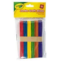 Crayola Craft Sticks - 11cm - Assorted Colours - For Ages 3+ - Pack of 100