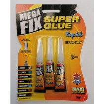 Maxi Strength Mega Fix Liquid Super Glue - 3g - Pack of 3