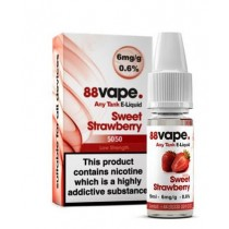 88 Vape Any Tank E Liquid - Sweet Strawberry - 50/50 Pg/Vg - 6Mg - 10Ml