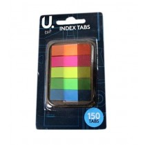 U Tab Index Tabs - 150 Tabs - Assorted Colours