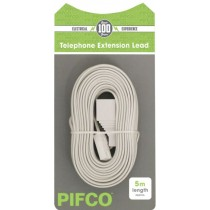 PIFCO TELEPHONE EXTENSION LEAD - 5 METRES