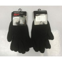 Touchscreen Mens Gloves - Black - One Size