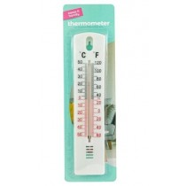 Keep It Handy Wall Hanging Thermometer - 20 x 4cm - White
