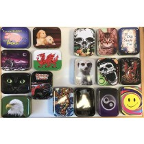 2 Oz Metal Tobacco/Stash Tin - Printed Designs May Vary