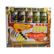 Dinosaur Tin Can Alley Shooting Game - 37.5 x 34 x 4cm - For Kids Age 3+