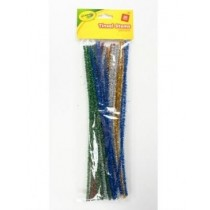 Crayola Tinsel stems - 30cm - Assorted Colours - For Ages 4+ - Pack of 30