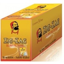 Zig Zag  Finest Quality Resealable Slim Filter Tips - Box Of 1500
