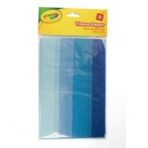 Crayola Tissue Papers - 40 x 35 cm - Assorted Blue Colours - For Ages 3+ - Pack of 10