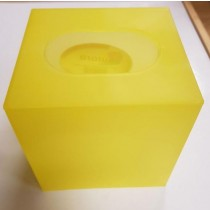 Aurora Plastic Tissue Box Holder - Yellow Green Blue And Orange - Colours May Vary