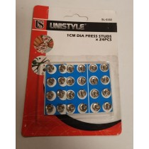 Titch Buttons Dia Press Studs - 1Cm - Pack Of 24