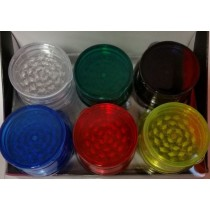 3 Part Tobacco Grinder - Assorted Colours