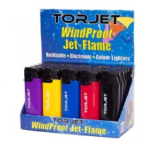 Torjet Windproof Jet Flame Lighter - Pack Of 25