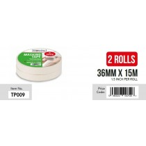 Gibsons High Strength Adhesive Masking Tape for Domestic & Commercial Use - 36mm x 15m - Pack of 2