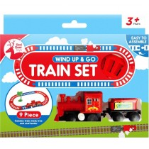 Wind up & Go 9 Piece Train Set - 18 x 15.5 x 3.5cm - For Ages 3+