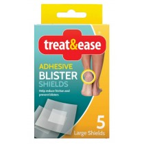 Treat & Ease Adhesive Blister Shields - Pack Of 5 - Exp 08/20