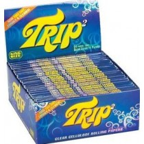 Trip Clear Cellulose Cigarette Rolling Papers - King Size - Pack Of 24