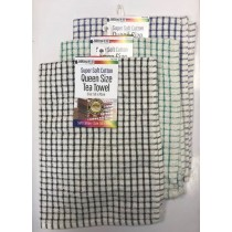 Super Soft Check Design Cotton Tea Towel - Queen Size - 50 x 70cm