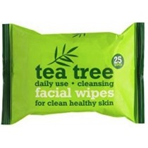Xpel Brand - Tea Tree And Peppermint Daily Use Facial Cleansing Wipes - Pack of 25 Wipes Per Pack