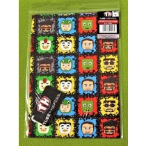 Tube Heroes Gift Wrapping Papers & Tags - Pack of 2 - 50cm X 69.5cm