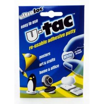 ULTRALOC U-TAC RE-USABLE ADHESIVE PUTTY - WHITE - 50 GRAMS