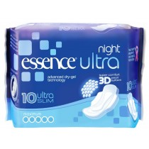Essence Ultra Night 3D Sanitary Pads/Towels - Pack Of 10