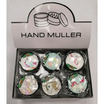 Hand Muller 3 Piece Metal Herb Grinder - Unicorn - Assorted Designs