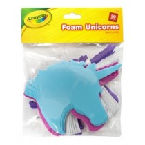 Crayola Foam Unicorns - Assorted Colours - For Ages 3+ - Pack of 20