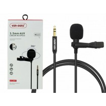 Ven-Dens 360° 3.5mm Aux Lavalier Microphone with All-Directional High Fidelity Wheat Head - 1.5m