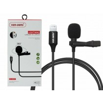 Ven-Dens 360° Lightening Lavalier Microphone with All-Directional High Fidelity Wheat Head - 1.5m