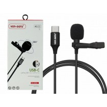 Ven-Dens 360° USB-C Lavalier Microphone with All-Directional High Fidelity Wheat Head - 1.5m