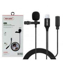 Ven-Dens 360° 2-in-1 Lightening to 3.5mm Lavalier Microphone with All-Directional High Fidelity Wheat Head - 1.5m