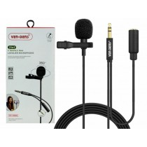 Ven-Dens 360° 2-in-1 3.5mm to 3.5mm Lavalier Microphone with All-Directional High Fidelity Wheat Head - 1.5m