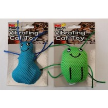 Pet Touch Vibrating Pull String Cat Toy - Designs And Colours May Vary - 10Cm X 7Cm