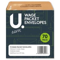Wage Packet Envelope - Brown - Pack Of 70