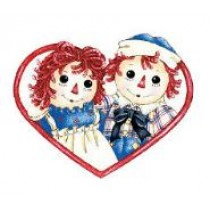 WALLIES RAGGEDY ANN & ANDY BEST FRIENDS WALLPAPER CUTOUTS - PACK OF 25