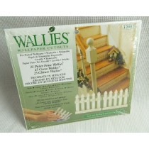 Wallies Picket Fence Wallpaper Cutouts - Pack Of 25