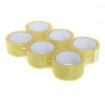 Bopp Clear Transparent Packing Parcel Box Tape - 2 Inch - 48Mm X 66M